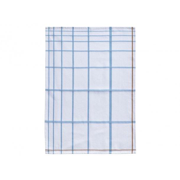 Zone Viskestykke 70 x 50 cm White/Blue - 100% bomuld