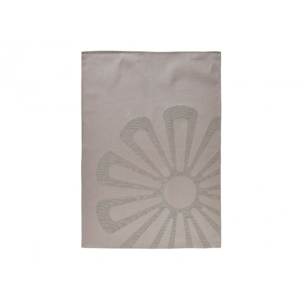 Zone Daisy Viskestykke 70 x 50 cm Taupe Brown - 100% bomuld