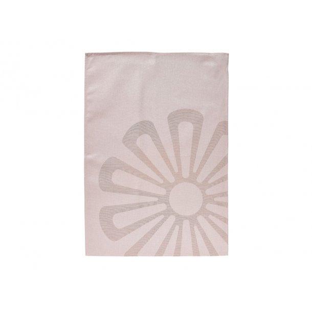 Zone Daisy Viskestykke 70 x 50 cm Nude - 100% bomuld