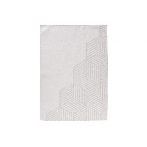 Zone Hexagon Viskestykke 70 x 50 cm Warm grey - 100% bomuld