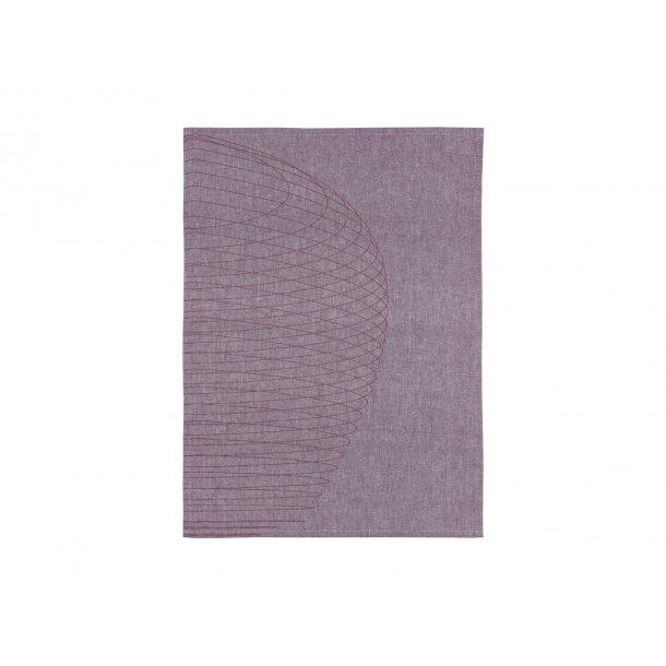 Zone Dry Art - Circles Viskestykke 70 x 50 cm Purple - 100% bomuld