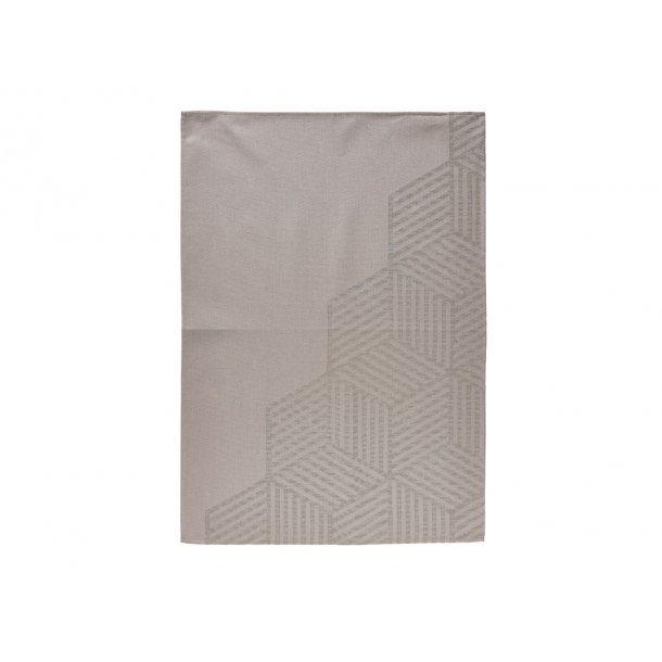 Zon Hexagon Kökshandduk 70 x 50 cm taupe Brown - 100% bomull