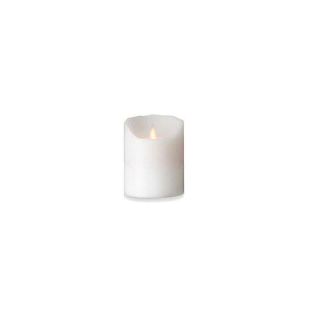 Sompex LED Stearinlys Bloklys - Hvid 10 cm