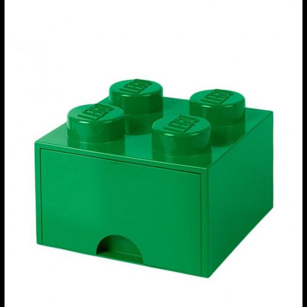 Lego Skuffe Opbevaringsklods Med 1 Skuffe 4 Grøn