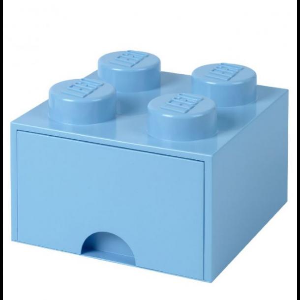 Lego Skuffe Opbevaringsklods Med 1 Skuffe 4 Lyseblå
