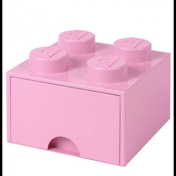 Lego Skuffe Opbevaringsklods Med 1 Skuffe 4 Lyserød