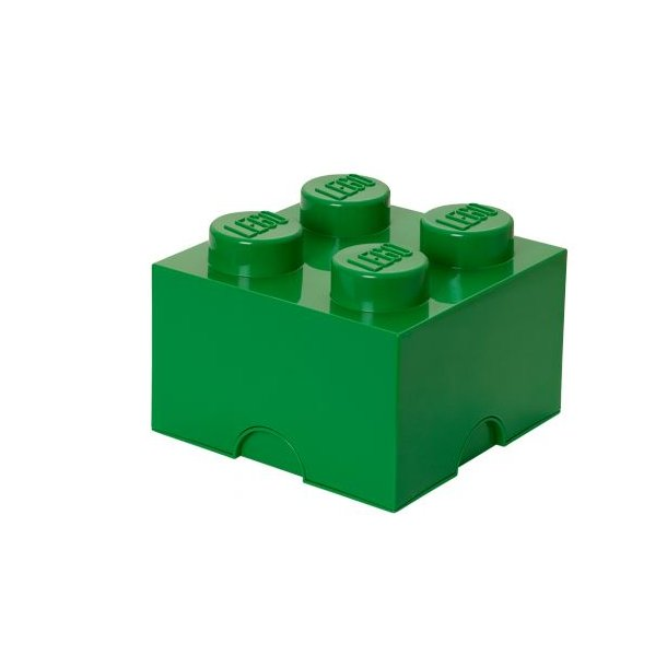LEGO Storage Block 4 - Dark Green