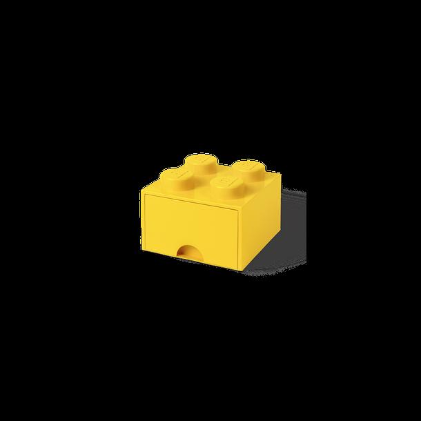 Lego Skuffe Opbevaringsklods Med 1 Skuffe 4 Gul