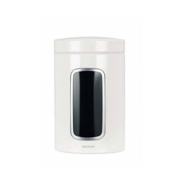 Brabantia 1,4 Liter opbevaringsdåse I Hvid med vindue - 491009