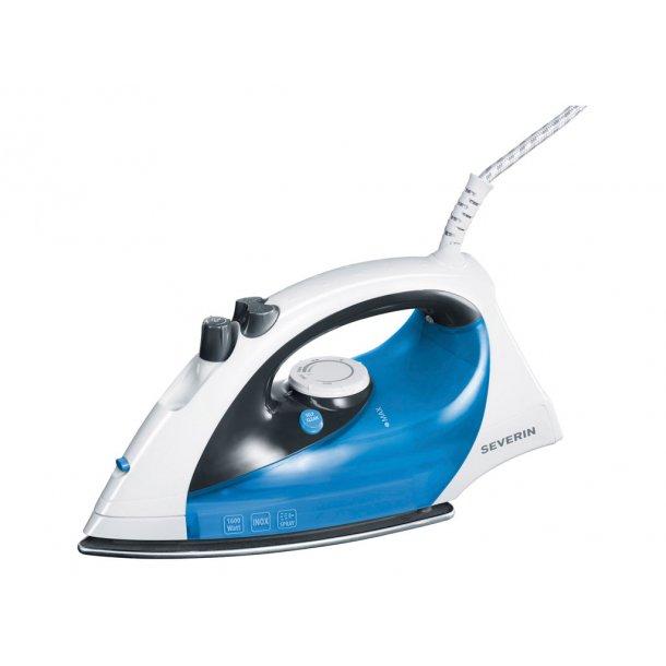 Severin Dampstrygejern 1600 watt hvid/blå