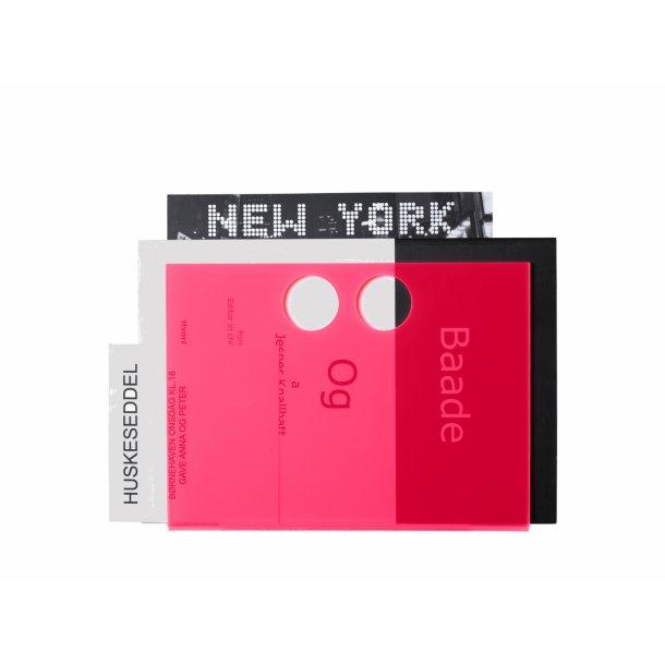 Neon Living Papirholder Paper U - Pink
