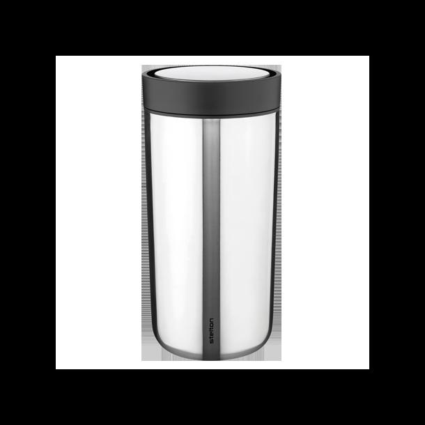 Stelton To Go Click stål kop 0,4L - Rustfrit Stål