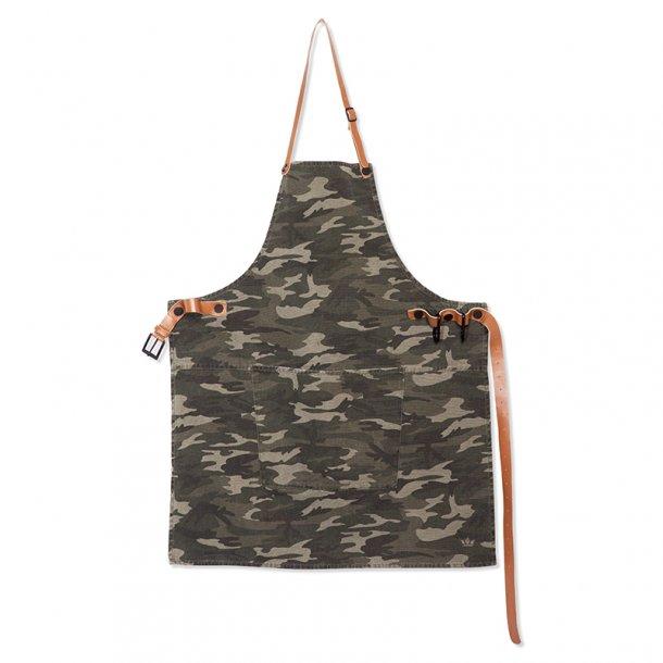 Dutchdeluxes BBQ Style Canvas lærred + 100% læderremme Army Green