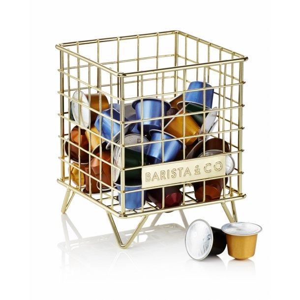Barista & Co Trådkurv til kapselopbevaring guld