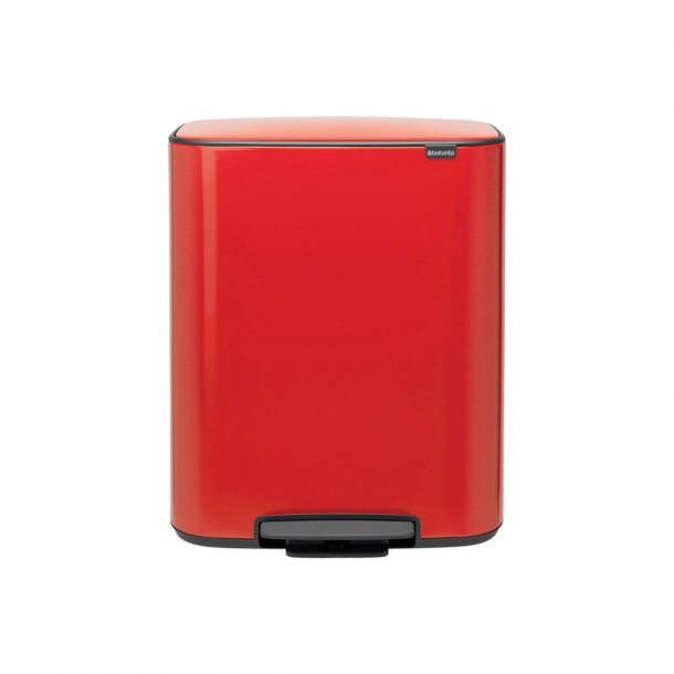 Brabantia Bo pedalspand m/2 inderspande a 30 ltr.  - Passion Red