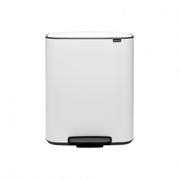 Brabantia Bo pedalspand m/2 inderspande a 30 ltr.  - White