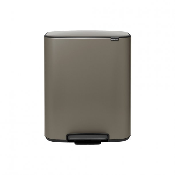 Brabantia Bo pedalspand m/1 inderspand 60 ltr.  - Platinum