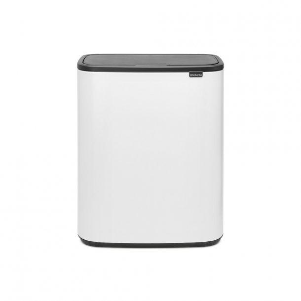 Brabantia Touch Bin Sorteringsaffaldsspand 2 x 30 Liter - Hvid