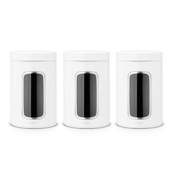 Brabantia Opbevaringsdåser 1,4 Liter Sæt Med 3 stk. - Hvid