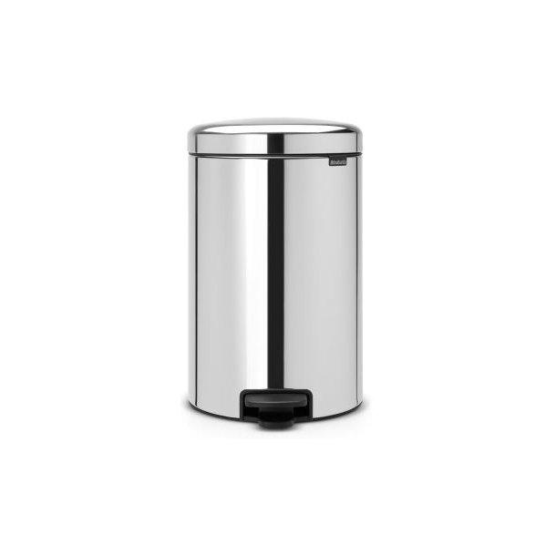Brabantia Pedal bin newIcon 20 Liter With Metal Inner Bucket - Brilliant Steel