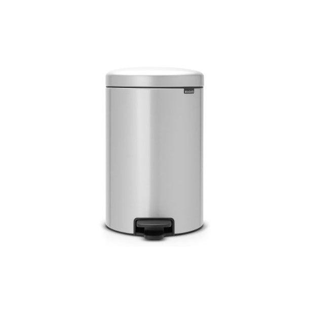 Brabantia Pedalspand newIcon 20 Liter Metallic Grey / Grå