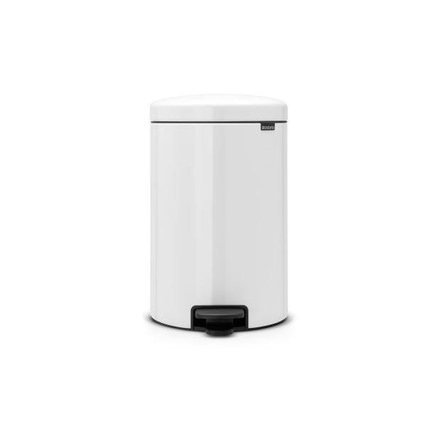 Brabantia Pedal bin newIcon 20 Liter With Metal Inner Bucket - White