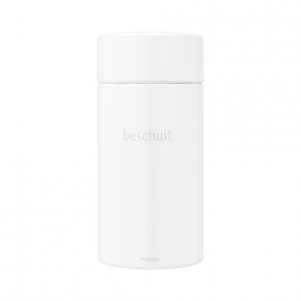 Brabantia BISCUIT TIN 1.7L White