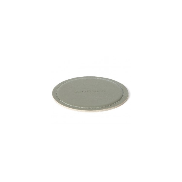 Dutchdeluxes Coasters Round 100% Leather New Grey - Ø 10 cm