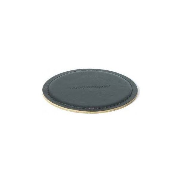 Dutchdeluxes Coasters Round 100% Leather Black - Ø 10 cm