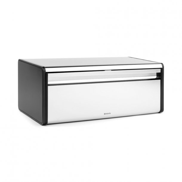 Brabantia Breadbox Case front Brilliant Steel