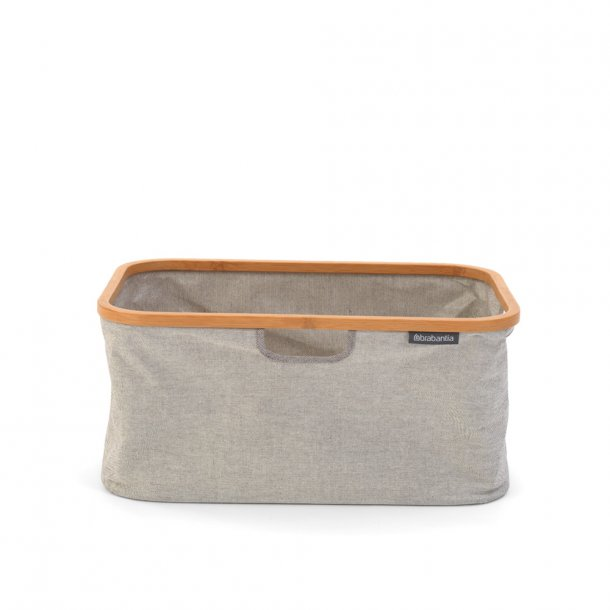 Brabantia Folbar vasketøjs kurv m bambuskant, 40 Liter Grå