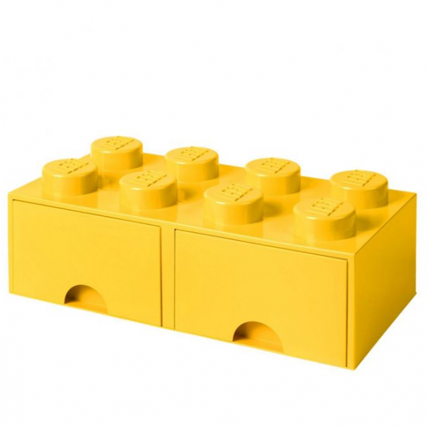 Lego Drawer Storage Box With 2 Drawer 8 Yellow