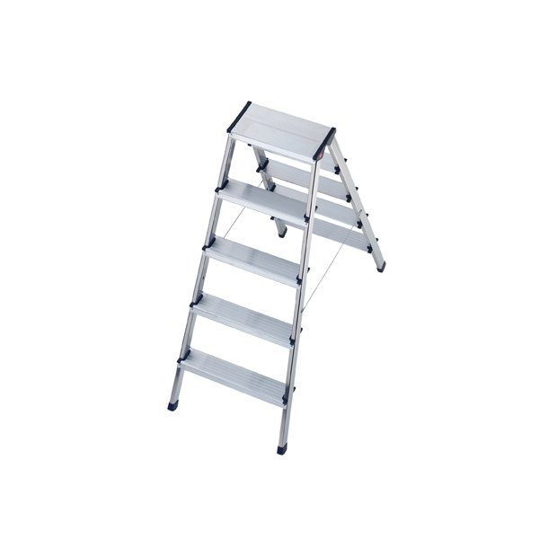 Incredible Hailo Folding Ladder L90 2 X 5 Step Aluminum Ibusinesslaw Wood Chair Design Ideas Ibusinesslaworg