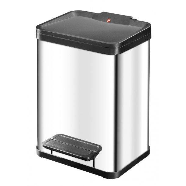 Hailo affaldsspand Öko uno Plus M, Rustfrit stål - 17 Liter