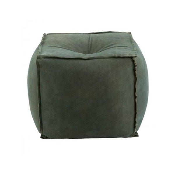 House Doctor Puf - grå/grøn