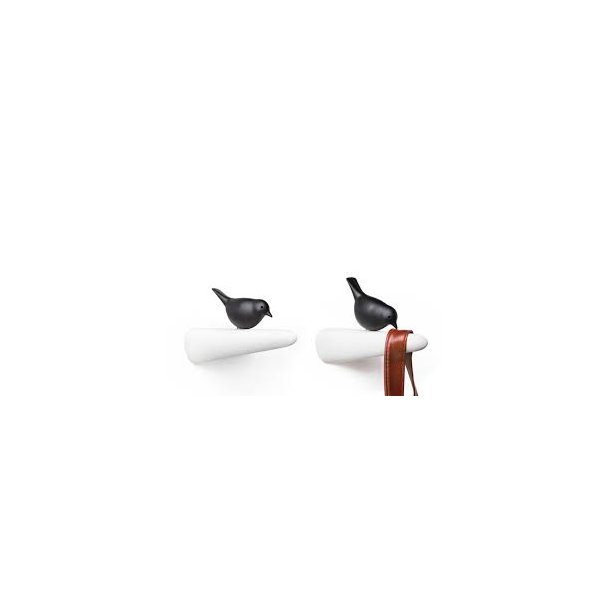Qualy Hook Picky Sparrow White / Black