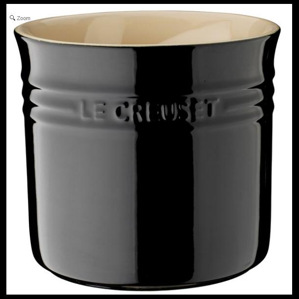 Le Creuset Bestik- og redskabskrukke 2,3 l/15,5 cm Black