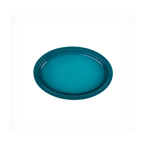 Le Creuset Signature ovalt serveringsfad 46 cm Caribbean