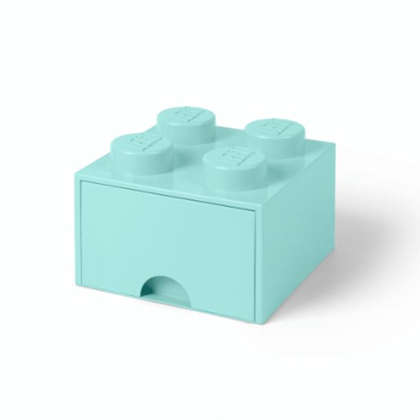 Lego Skuffe Opbevaringsklods Med 1 Skuffe 4 Aqua Light Blue