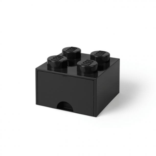 Lego Skuffe Opbevaringsklods Med 1 Skuffe 4 Sort
