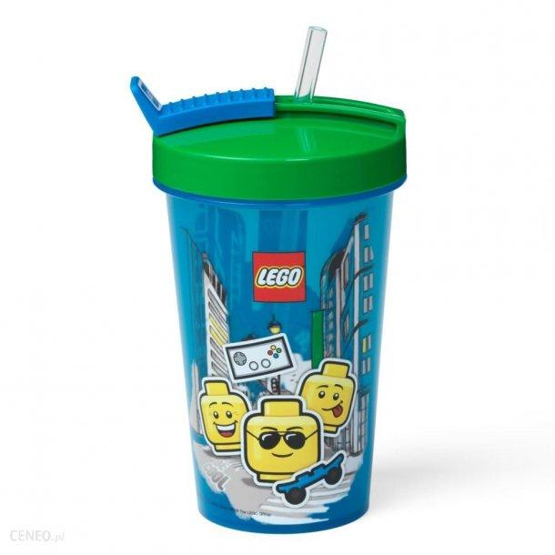 Lego Kop Med Sugerør - Iconic Boy