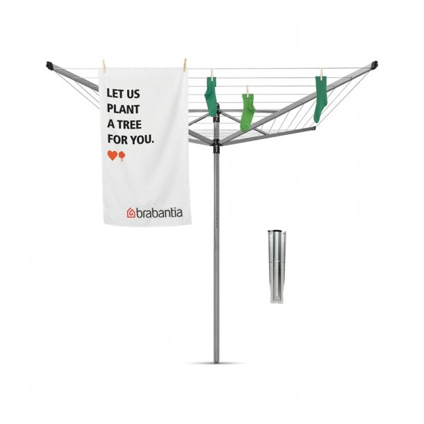Brabantia Tørrestativ Lift-O-Matic 40 mtr. Metallic Grey