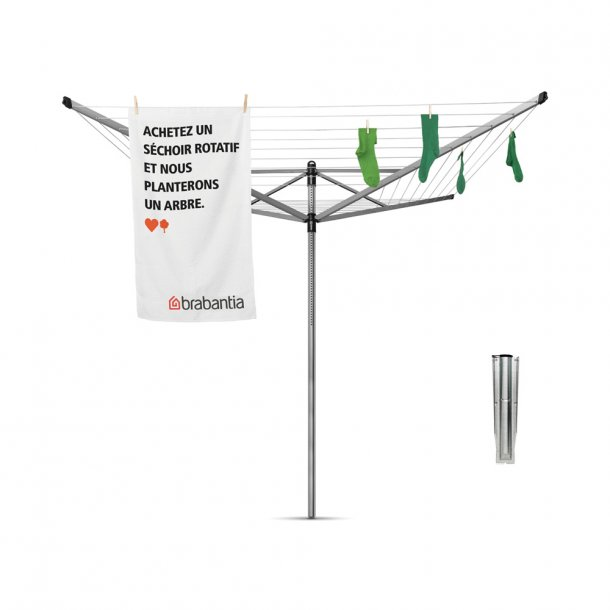 Brabantia Rotary Dryer Lift-O-Matic With Ground Spike - 50 Meters