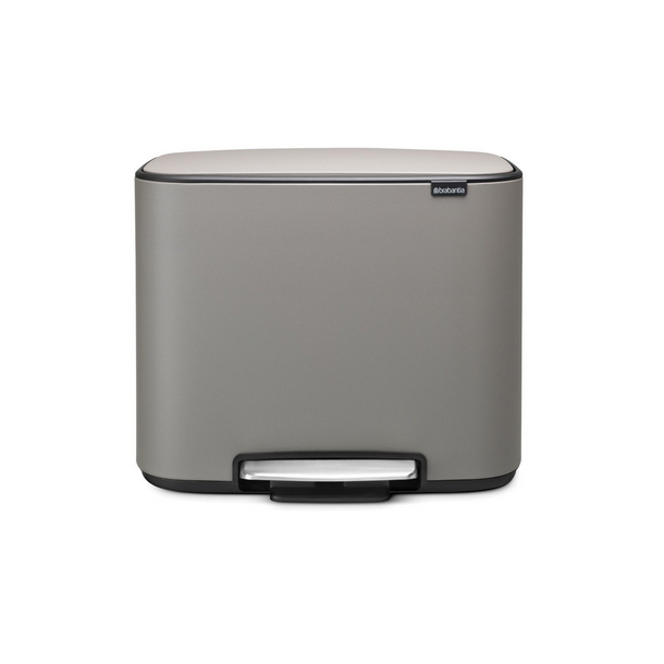 Brabantia Bo Pedalspand 11 + 23 ltr. - Mineral Concrete Grey