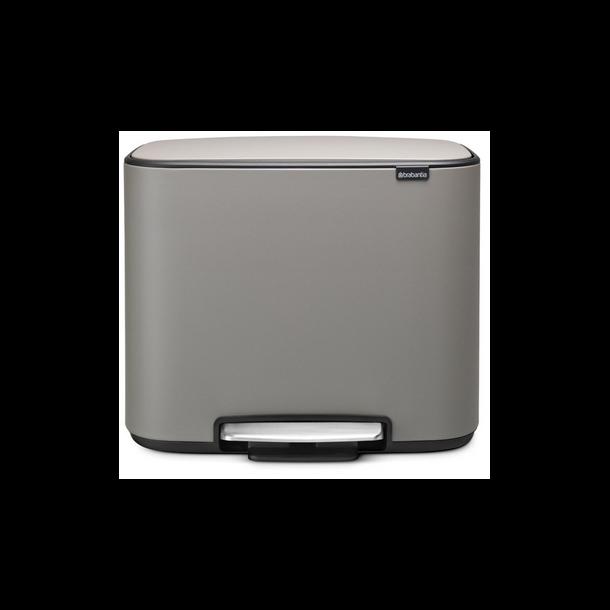 Brabantia Bo Pedalspand - Mineral Concrete Grey - 3 x 11 ltr.