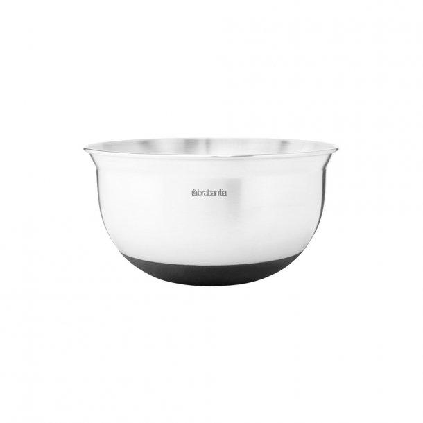 Brabantia Pipe bowl 1 ltr. Matt Steel / Black