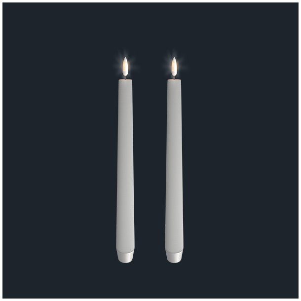 Uyuni Lighting Led Taper Candle Twin Pack Ivory 2,5 X 28 Cm