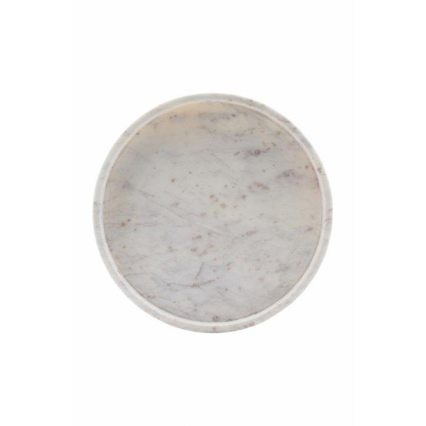 House Doctor Marmor Fad, Hvid d: 30 cm h: 4cm