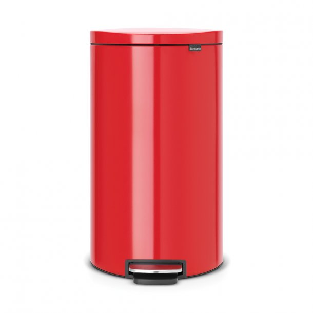 Brabantia Flatback+ pedalspand 30 ltr. Passion Red