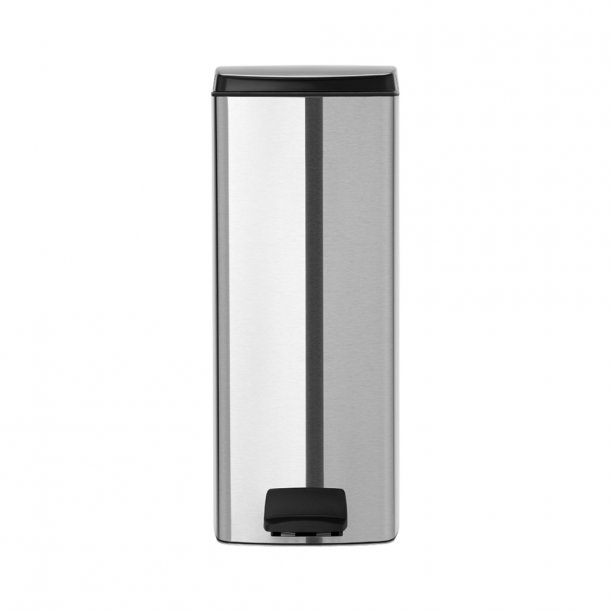 Brabantia Pedalspand 25 ltr. Flatback Matt Steel Fingerprint Proof
